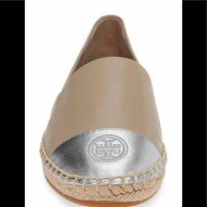 TORY BURCH NWT Colorblock Espadrille Flat.